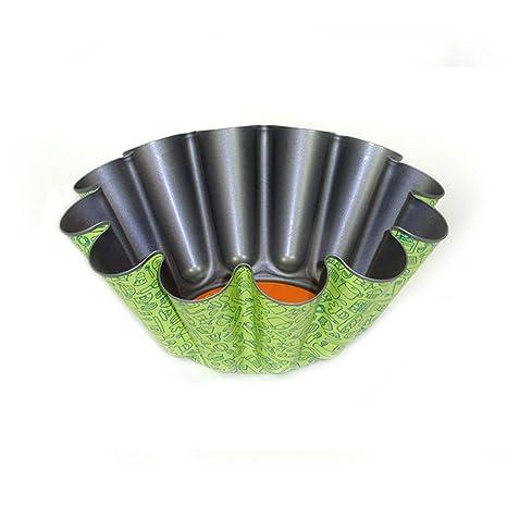 San Ignacio 63054060 - Molde redondo ondulado para flan, 23 cm, fabricado en aluminio