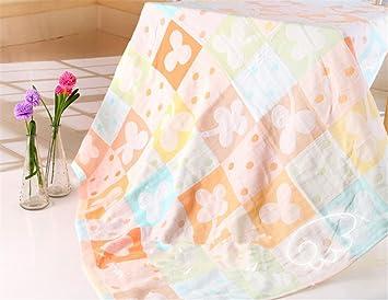 Doble capa muselina algodón cálido bebé toallas de baño de bebé manta para recién nacido bebé