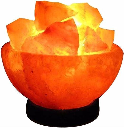 Cuenco de Fuego de Sal del Himalaya GRANDE 3-4 Kg.: Amazon.es: Iluminación