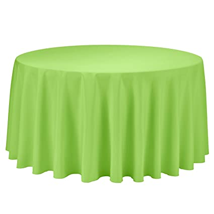 Remedios 120 Inch Round Polyester Tablecloth Table Cover   Wedding  Restaurant Party Banquet Decoration,