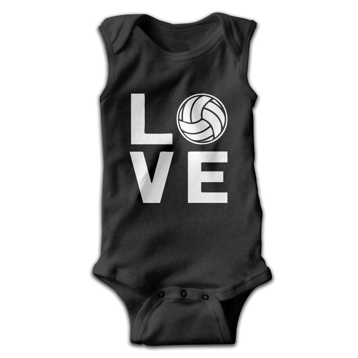 Love Volleyball Baby Newborn Crawling Suit Sleeveless Romper Bodysuit Rompers Jumpsuit