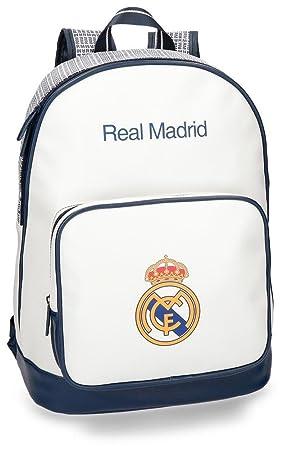 Real Madrid C.F. Rm Leyenda Sac à dos loisir, 36 cm, 11.66 liters, (Blanco)