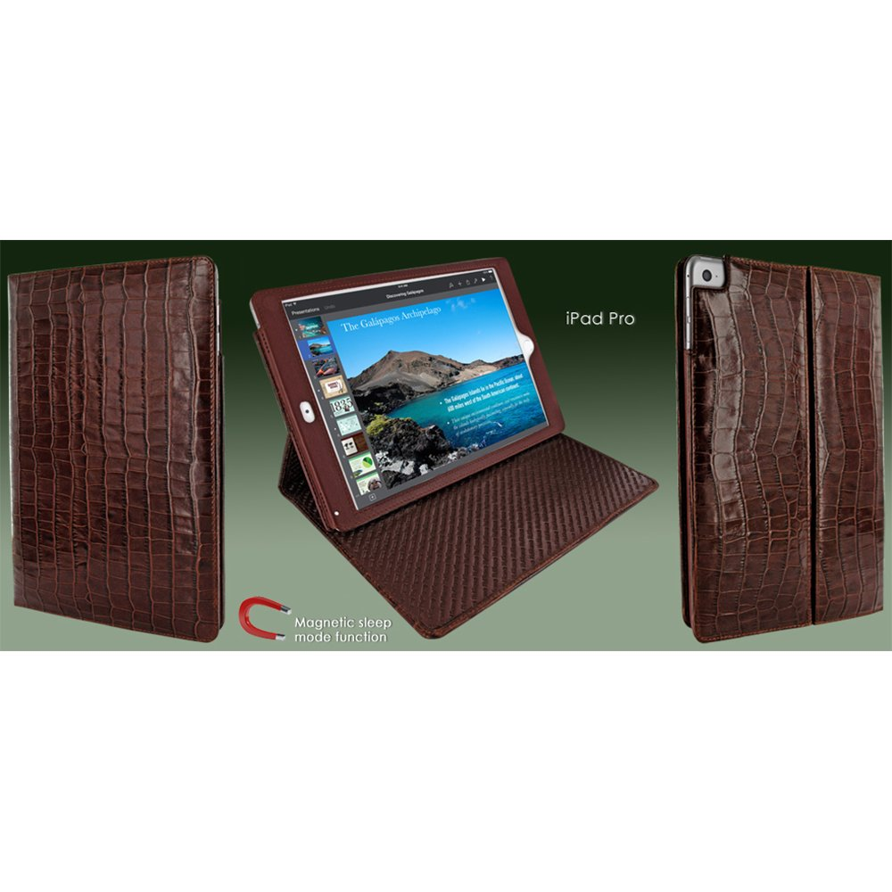 Piel Frama ''Cinema'' Leather Case for Apple iPad Pro 12.9'', Crocodile Brown (730COM)