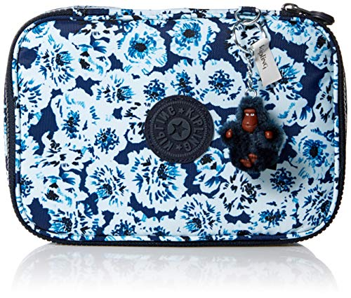 Kipling Women's 100 Pens Pencil Case, Essential Everyday Case, Zip Closure, Roaming Roses