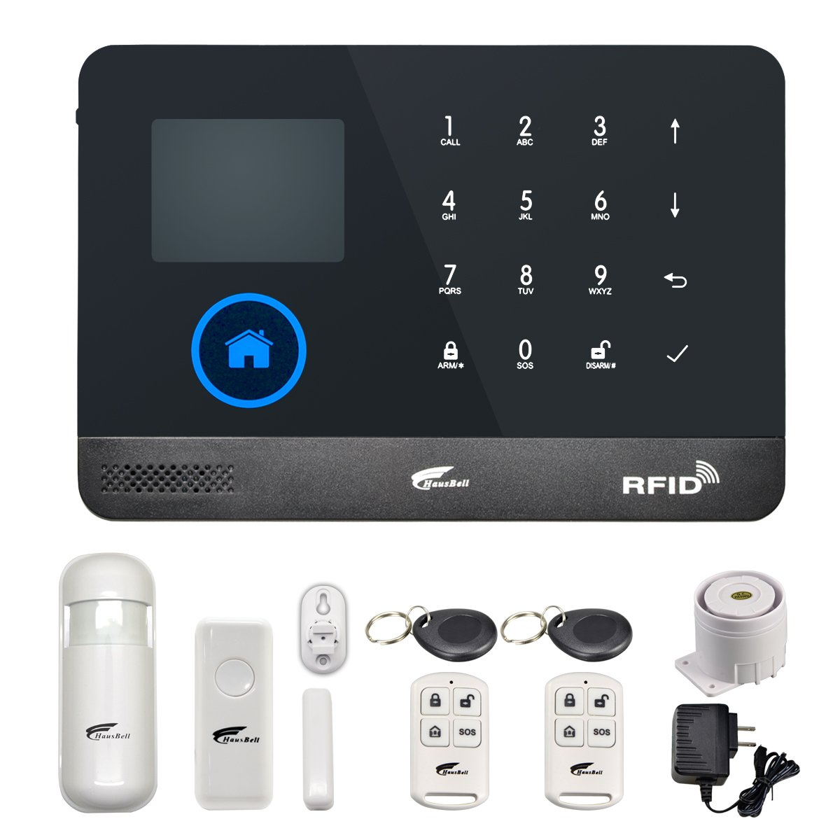 HAUSBELL Alarm Home Security System,3G & WiFi 2in1 Wireless Smart GSM Security Alarm 433MHz GSM Home&Business Office with Full Touch Screen, Auto Dial ...