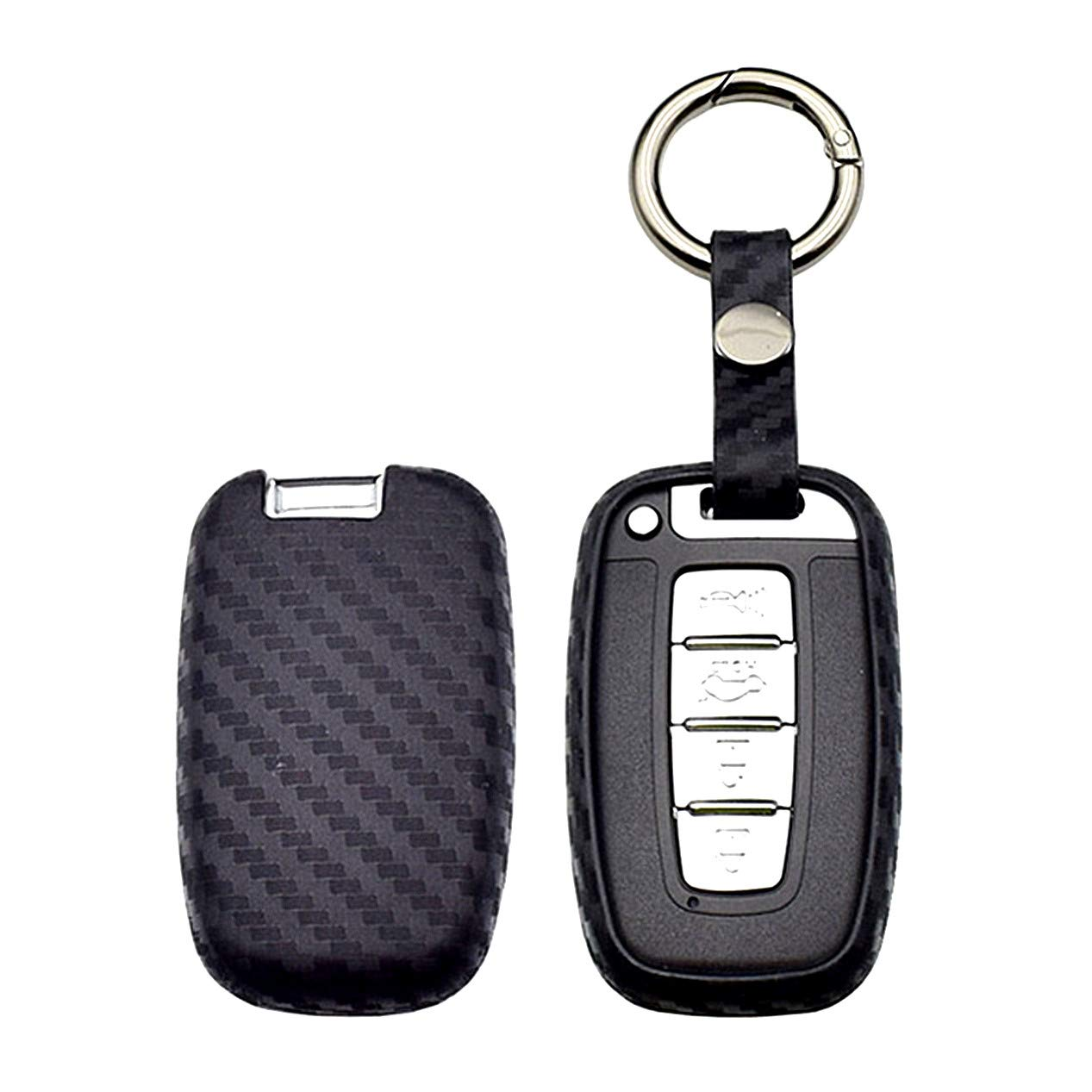 Mokie 2-Pcs Silicone Key Fob Case,Skin Cover Protector for Hyundai Elantra Sonata Tucson I40 IX35 I45 Smart 4 Buttons Hyundai Elantra Sonata Tucson I40 IX35 I45 Smart 7 Buttons