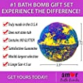 6 Large USA Made Bath Bomb Gift Set w/Free Handmade Bar Of Soap - Ultra Lush Bath Fizzies - 200 Different Varieties, Assorted Gift Box Vegan Perfect Gift For Her or kids Spa Moisturize Kit Organic by Lotion Fast