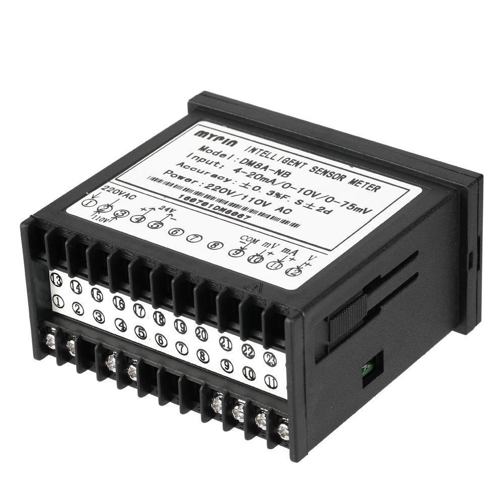 KKmoon Medidor Multi-funcional Inteligente Digital Sensor Pantalla LED Entrada 0-75mV//4-20mA//0-10V Input