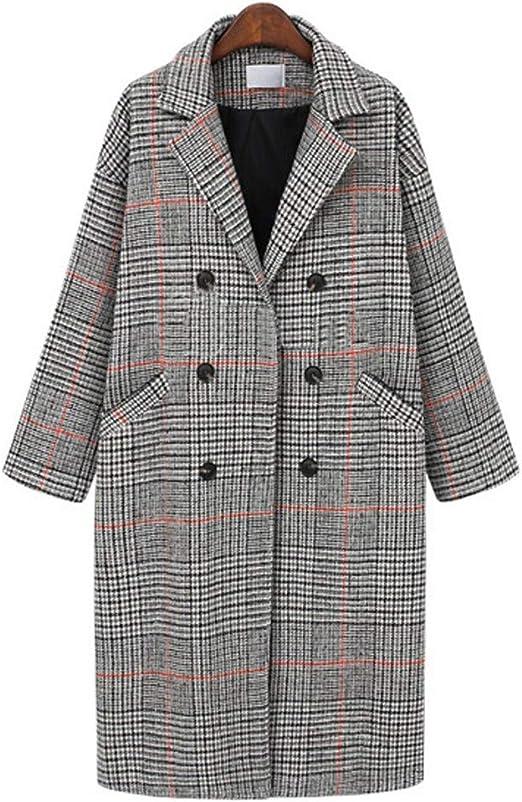 Women/'s Lapel Wool Cashmere Coat Trench Jacket Long Parka Overcoat Outwear Hot