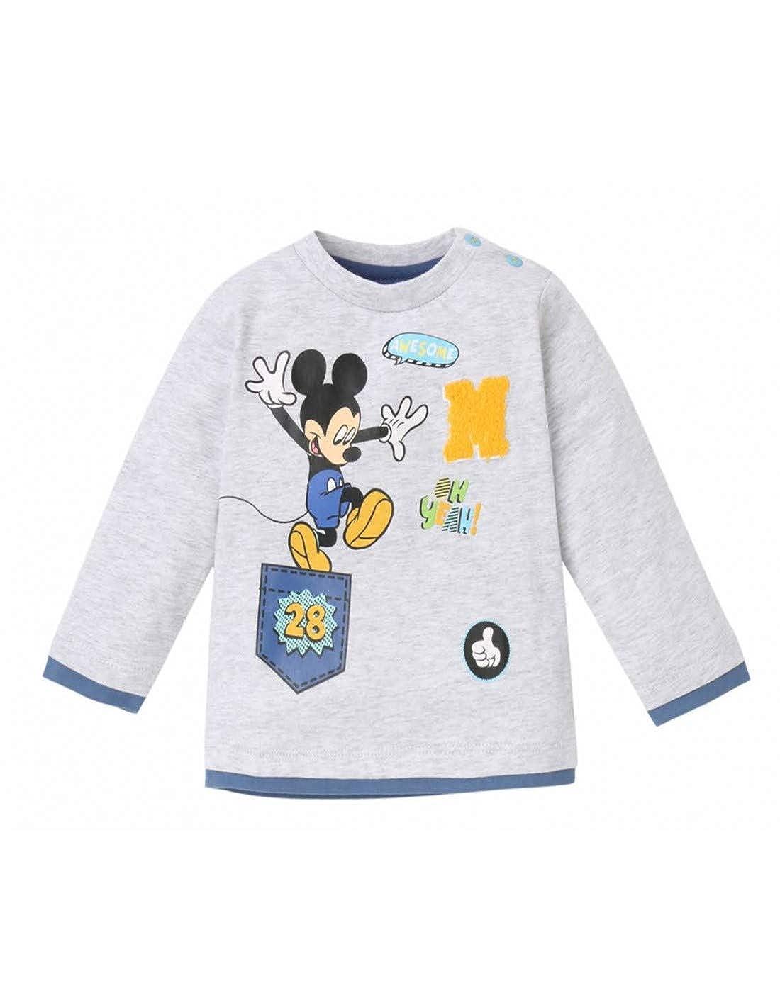 Mickey Mouse Baby Boys' Long Sleeve Tee TSML-BG-MIC-SO2139-1050