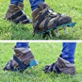 Abco Tech Lawn Aerator Spike Shoes - for Effectively Aerating Lawn Soil – Comes with 3 Adjustable Straps with Metallic Buckles – Universal Size That Fits All - for a Greener and Healthier Yard