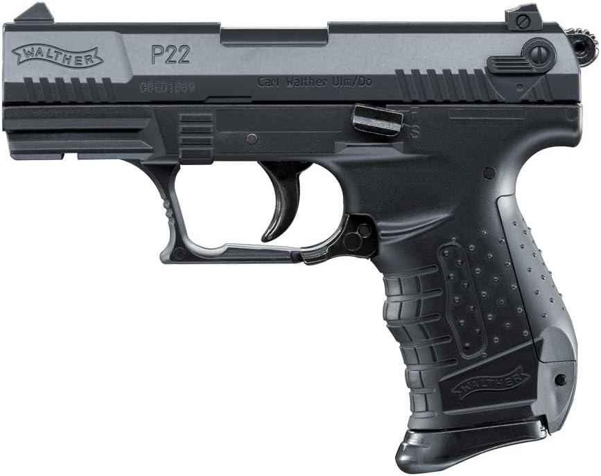 Umarex Softair Pistola Walther P22 Presión a Resorte Incl. Cargador de Repuesto en Negro o Bicolor