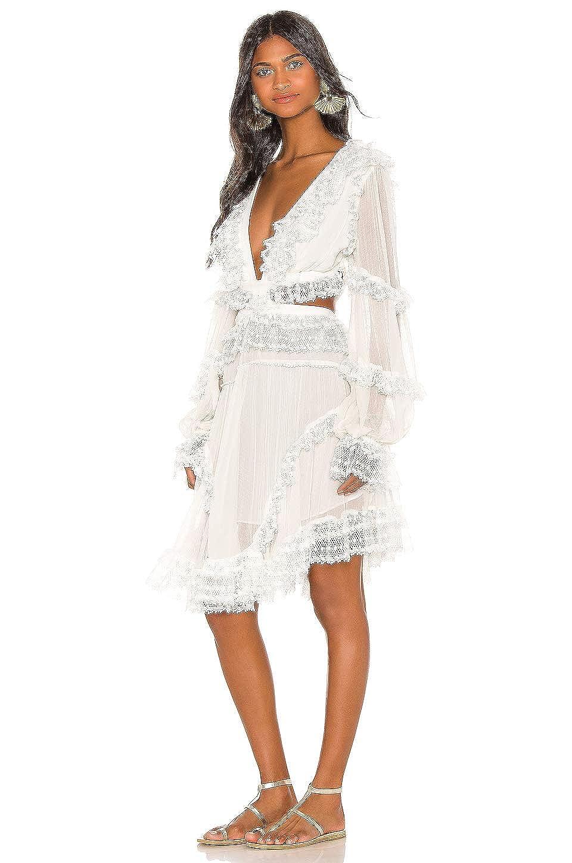 Dior Bella White Cutout Side Chiffon Lace Dress At Amazon