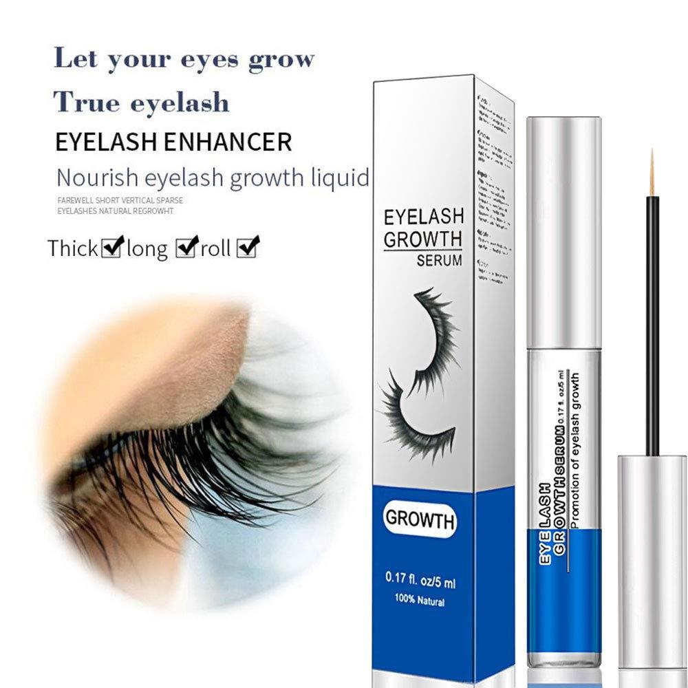 MINSCANA Wimpernserum Augenbrauenserum Bio Eyelash Growth Wimpernbooster Eyelash Activating, Wimpernverlängerungsserum für dichte Wimpern & Augenbrauen, Ölfrei, Hormonfrei, Pigmentfrei, 5 ml (Blau) Ölfrei