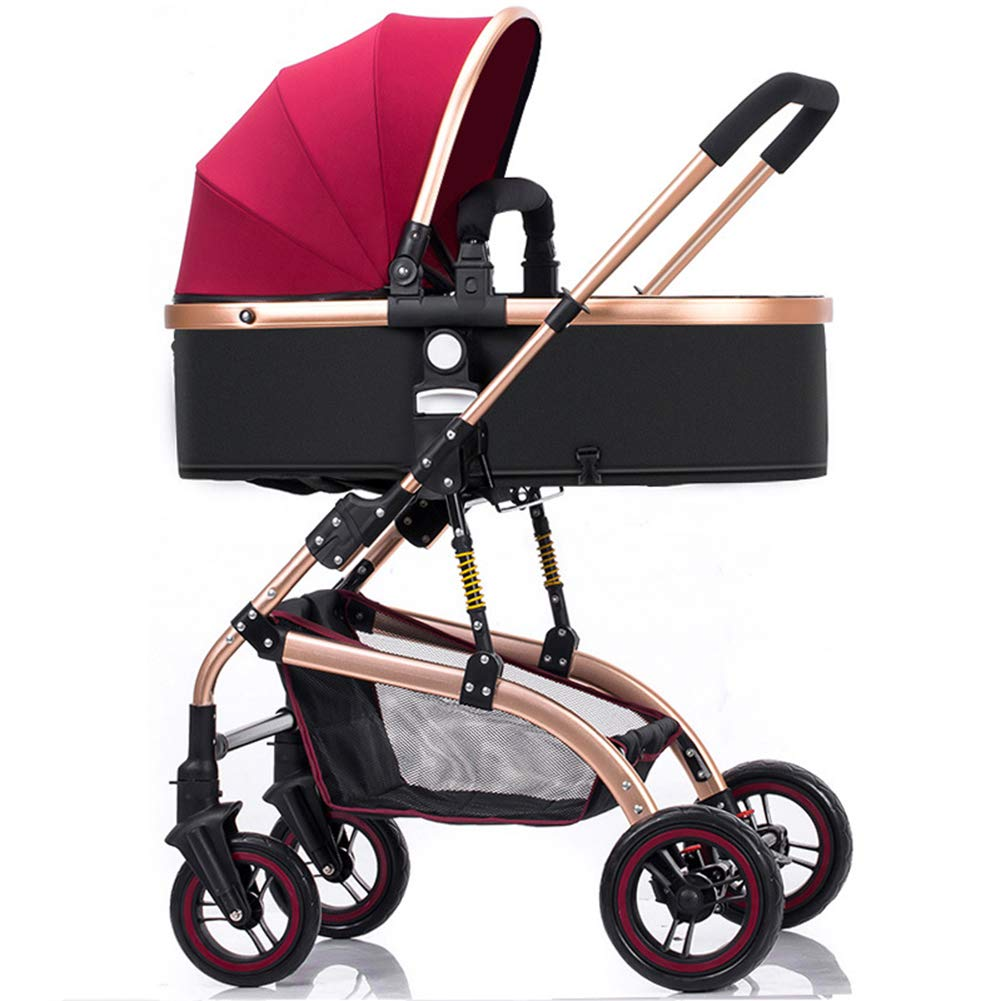 Baby Pram, High Landscape Baby Stroller can sit and Lie Down Two-Way Toddler Pushchair for Babies 0-3 Years Old by WYX-Stroller (Image #3)