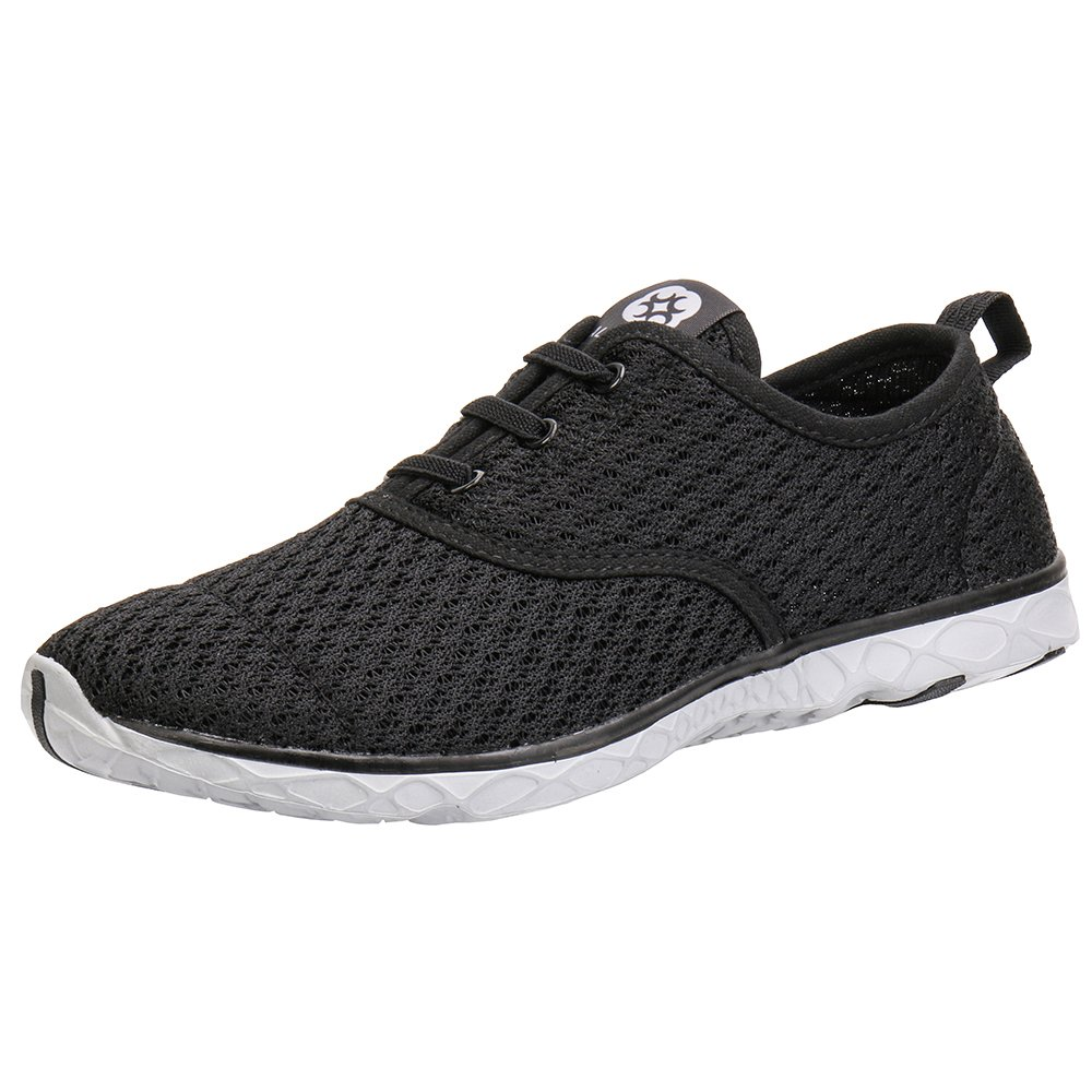 ALEADER Men's Stylish Quick Drying Water Shoes Black 7 D(M) US