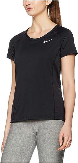 Nike Shirt de Course Femme Dry Miler Crew: : Sports