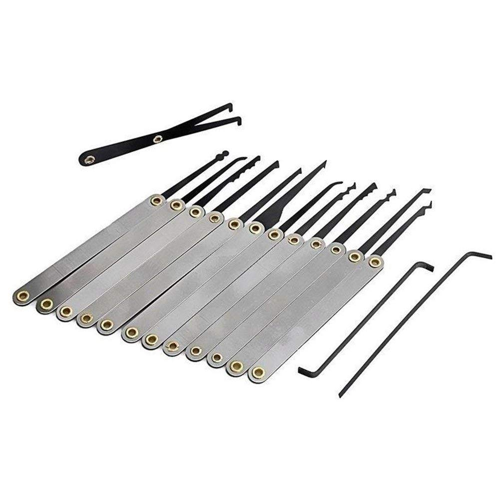 MOTOULAX Edelstahlschloss-Set Zahlenschloss-Vorh/ängeschloss-Set aus Metall und plattiertem Stahl 17-tlg