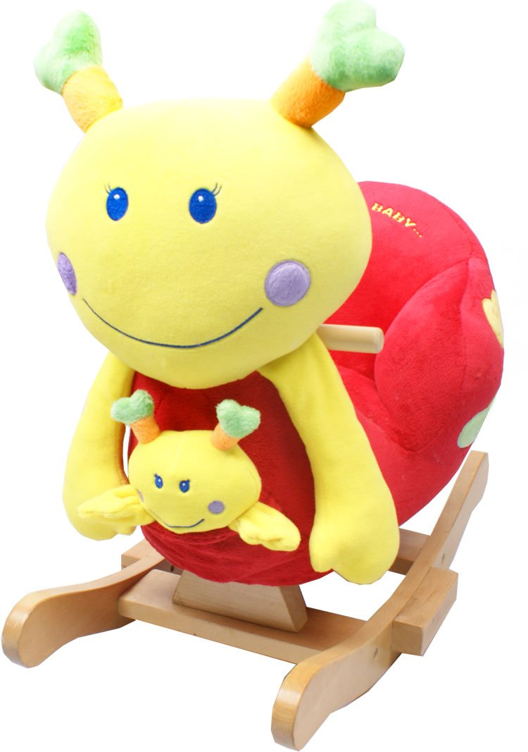 Plush Snail Rocker With Sounds