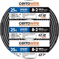 CERRO Cerrowire 8-2 NM-B Stranded w/Ground 600V Indoor Copper Building Wire 25-foot Coil