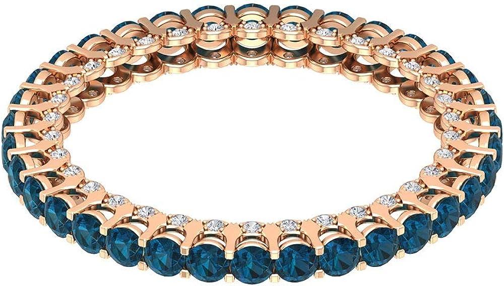 Anillo de compromiso con topacio azul certificado de 1,70 ct, diamante de 1/4 ct, anillo de boda, anillo de novia de piedra preciosa antigua, 10K Oro