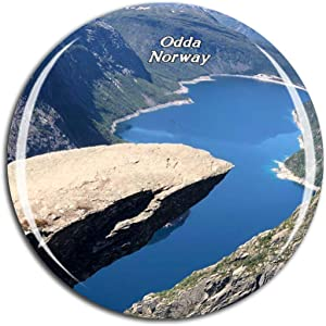 Weekino Norway Trolltunga Odda Fridge Magnet 3D Crystal Glass Tourist City Travel Souvenir Collection Gift Strong Refrigerator Sticker