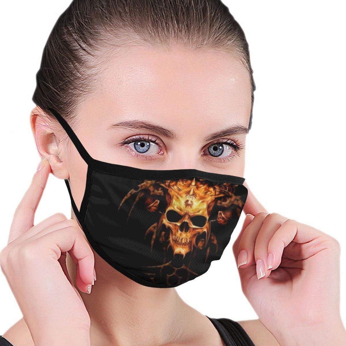 huibe Flame Heavy Metal Skull Mujeres Hombres Face Cover Protecci/ón al Aire Libre contra el Polvo y el Viento