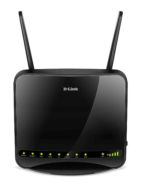 D-Link DWR-953 - Router WiFi AC1200 (4G/LTE libre, 3G, 1200 Mbps, WPS, 4 puertos Gigabit 10/100/1000 Mbps, 1 puerto de Internet WAN Gigabit, ranura ...
