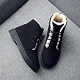 Aurorax Women Lace Up Flat Biker Military Army Combat Black Boots Shoes Waterproof Winter Snow Boot Classic Cozy Outdoor Ankle Booties Wedge Booties Momentum Shoes (Black, 40)