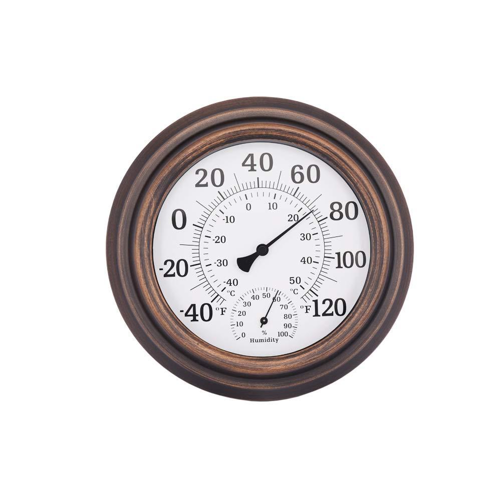 Temperature Hygrometer Home Interior Wall-Mounted Bronze Color Humidity Temperature Measurement
