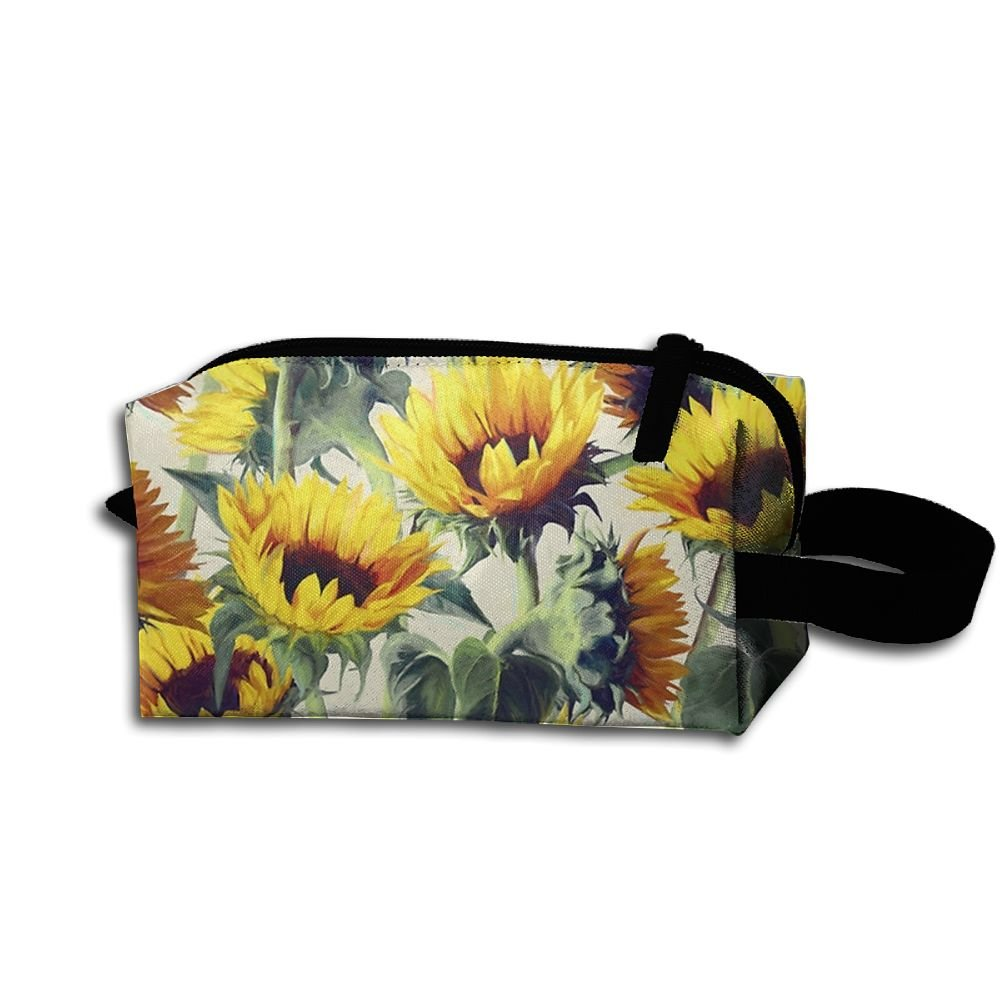 new ZeTian H Blooming Sunflower Popular Storage Bag Portable Travel Makeup  Bag Personalized Pencil Case Cosmetic eff4572cb4