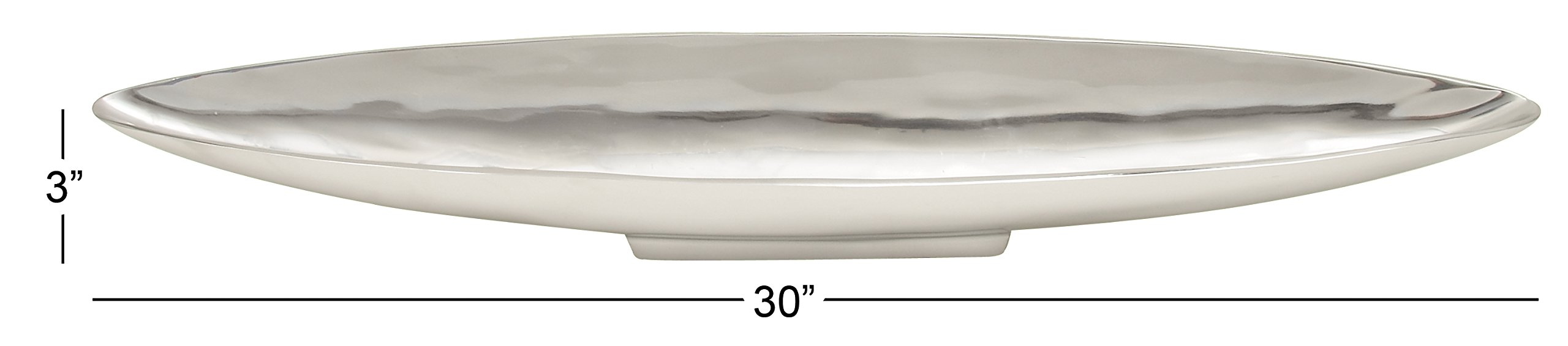 Deco 79 Aluminum Boat Tray, 30 by 3-Inch by Deco 79 (Image #1)