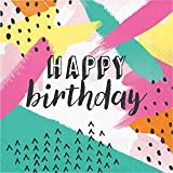 Club Pack of 192 Multicolored Birthday Party Disposable Luncheon Napkins 6.5''