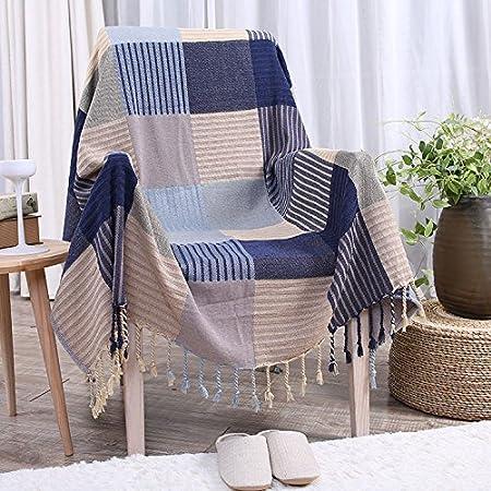 XYSFT: Manta de Chenilla, Manta de sofá de algodón orgánico Suave ...