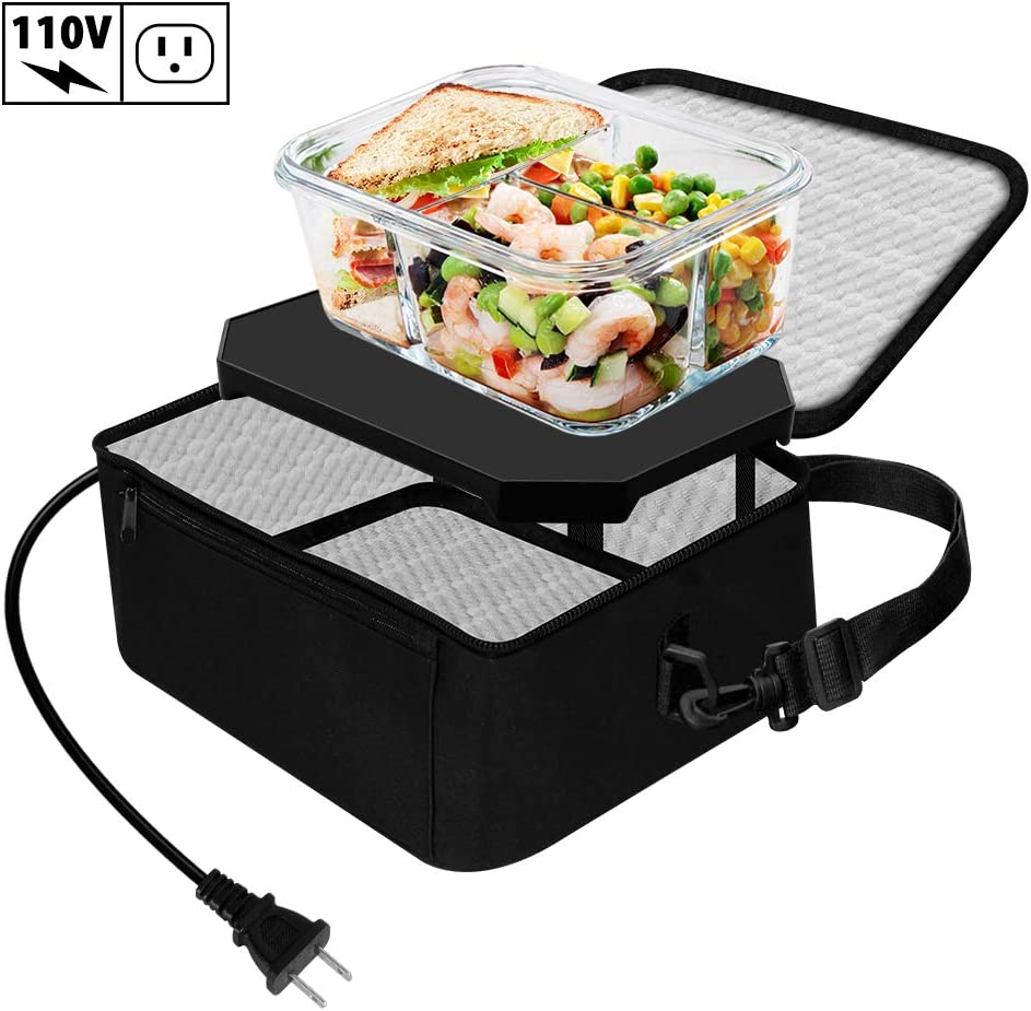 TrianglePatt Portable Oven,Portable Food Warmer 110V Mini Microwave for heated Meals,Upgraded Lunch Warmer Box with Bag for Office, Travel, Potlucks, and Home Kitchen