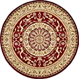 Unique Loom Versailles Collection Traditional Classic Red Round Rug (8' 0 x 8' 0)