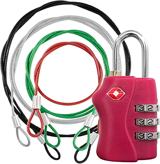 Lumintrail 3mm Braided Steel Coated Security Cable Safety Lock with Double Loop