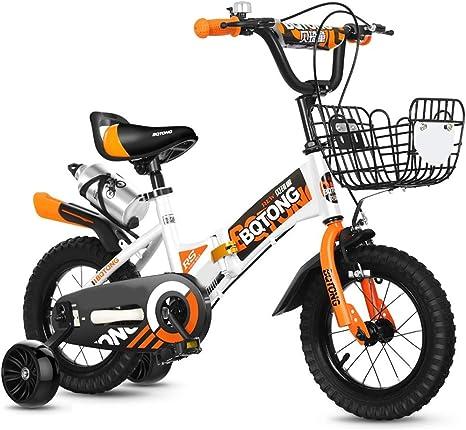 JINHH Bicicleta, 2-3-4-6 Años Niño Niña Bicicleta 12-14-16 Pulgadas Bicicleta para Niños con Estabilizadores, Botella De Agua Y Soporte: Amazon.es: Deportes y aire libre