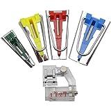 cmy select バイアステープメーカー 4サイズ & ミシン アタッチメント セット 簡単 手作り 作成 バイアステープ