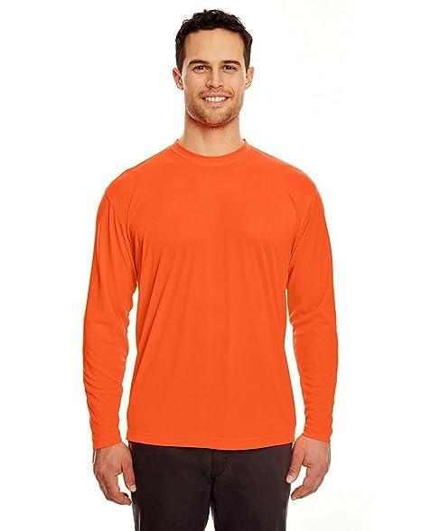 8a98e01b UltraClub 8422 Cool & Dry Long Sleeve Tee Bright Orange X-Small