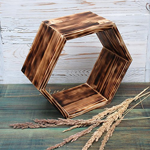 "ALL SIZE 10""12""14""16"" The wooden wall shelf, wall shelves, wall shelf wood, geometric shelf, wooden hexagon shelf, handmade modern wall shelf, rustic wall shelves, wall shelves for storage"