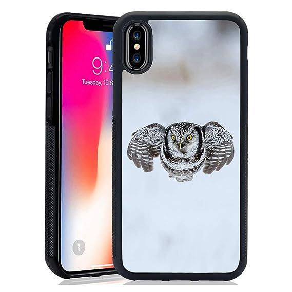 5e0acc68e1419 Amazon.com: iPhone X/10 Phone Case, Cute Funny Go Ahead Owl Anti ...