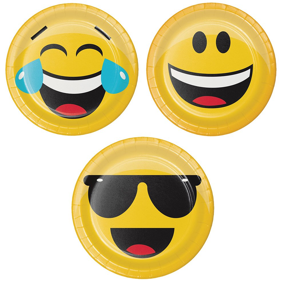 Assorted Emoji Dessert Plates Serves 8 Guests Includes Poop Shaped Dinner Plates /& Napkins Assorted Blue Cutlery Poop Emoji Theme Birthday Party Supplies Set Cups /& Party Checklist