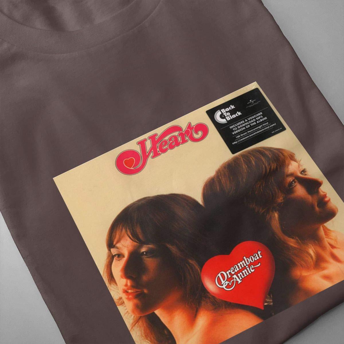VIIHAHN Men Design Heart Dreamboat Annie Casual Outdoor Round Neck Short Sleeve T-Shirt