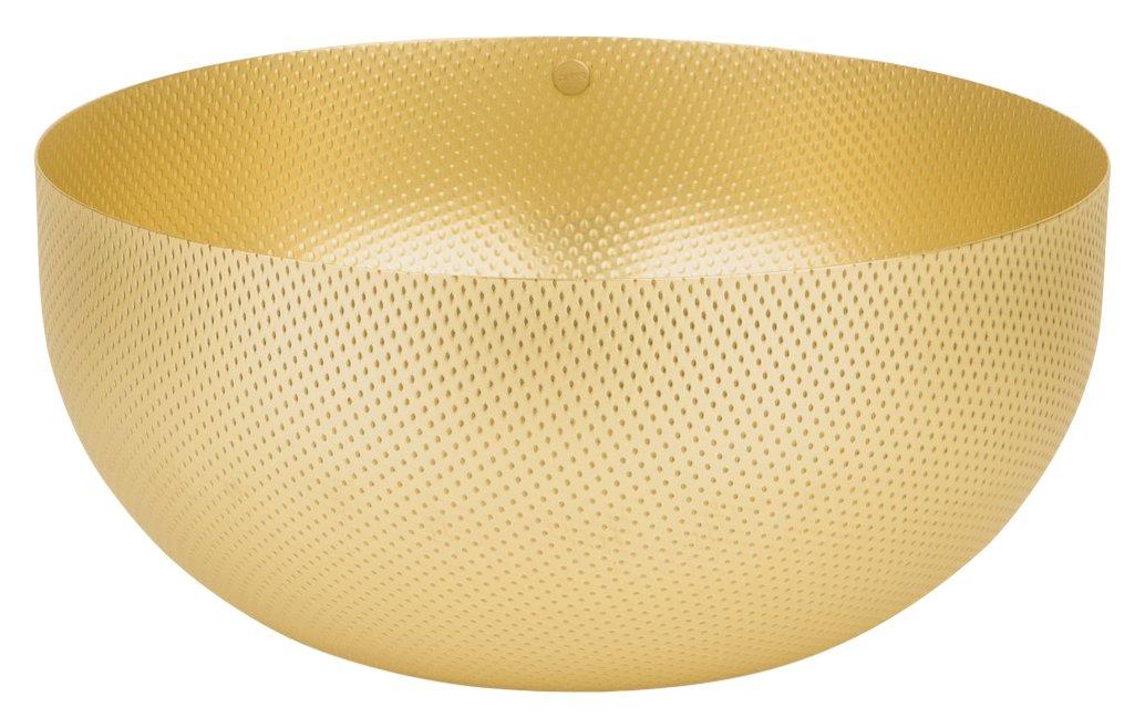 Alessi Round Basket, Brass, 21 x 21 x 9.5 cm UTA17/21BR
