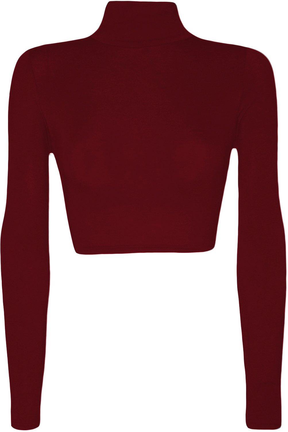 GUBA Big Girls' Polo Neck Crop Top Short Stretch Long Sleeve Turtle Roll Neck
