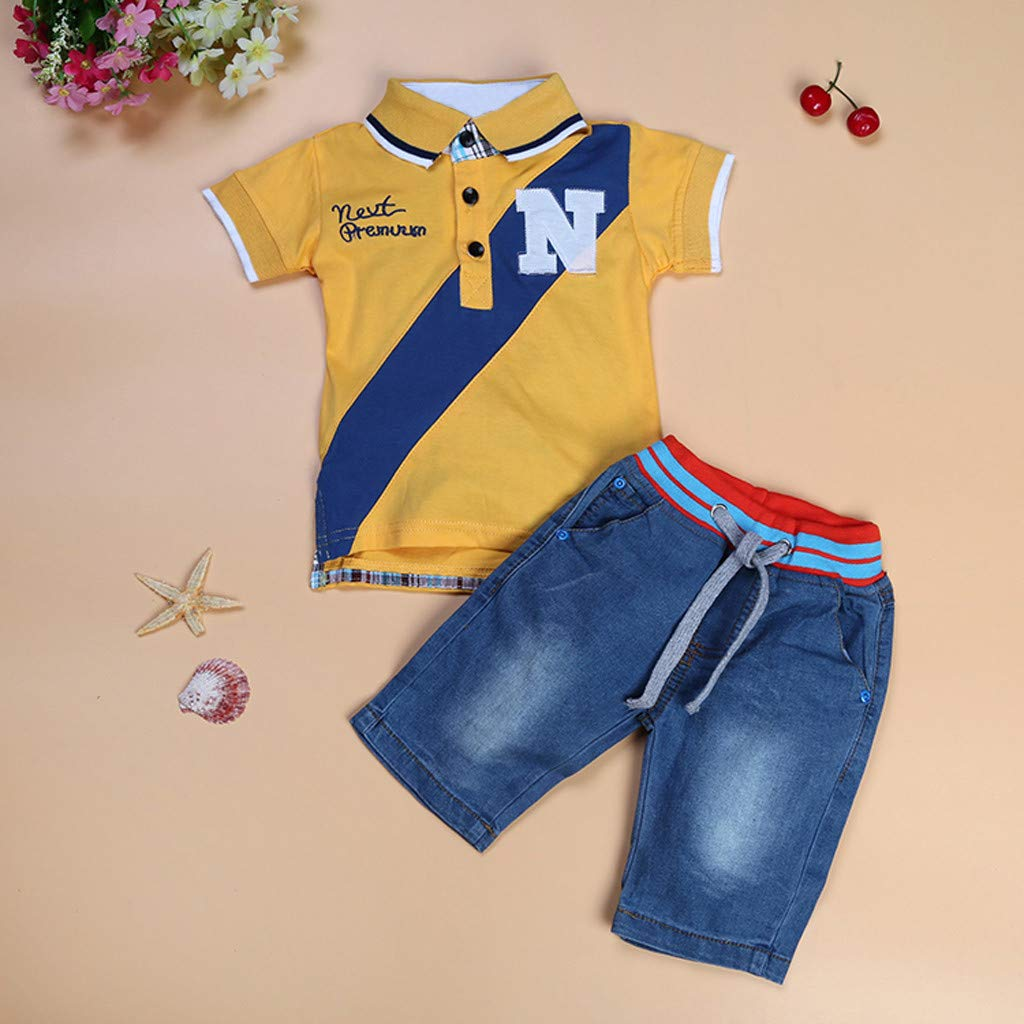 Amazon.com: Iuhan Clothes Summer Children Kids Boys Letter Printed T ...