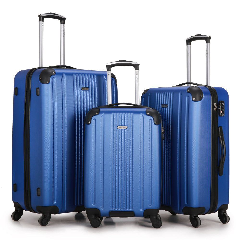 Fochier Luggage 3 Piece Set Hardsell Spinner Suitcase