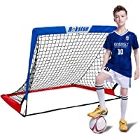 Hekaton Portable Soccer Goal, Pop-up Soccer Nets for Backyard Training Goals for Soccer Practice with Carry Case, Target…