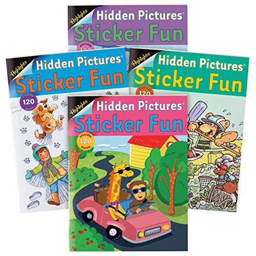 (Highlights Hidden Pictures Sticker Fun 4-Book)
